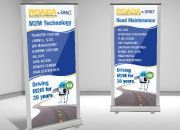ROADA standup vertical banners for tradeshow